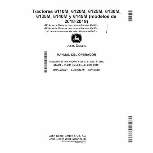 John Deere 6110M, 6120M, 6125M, 6130M, 6135M, 6140M, 6145M tractor pdf operator's manual ES - John Deere manuals