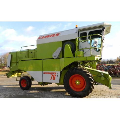 Manual del operador de la cosechadora claas Dominator 56-76 - Claas manuales