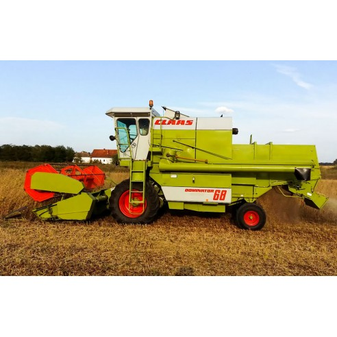 Claas Dominator 38 - 68 combine harvester technical systems manual - Claas manuals