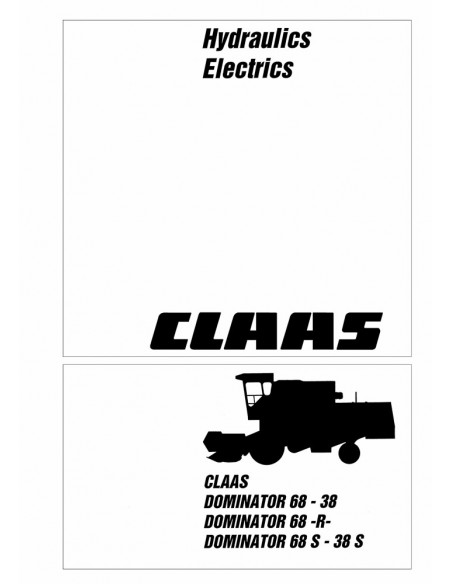 Technical systems manual for Claas Dominator 38 - 68 combine harvester, PDF-Claas