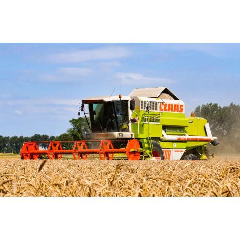 Manual del operador de la cosechadora claas Dominator Mega II 202-218 - Claas manuales
