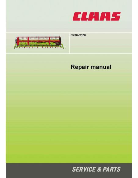 Claas C490-C370 header repair manual - Claas manuals