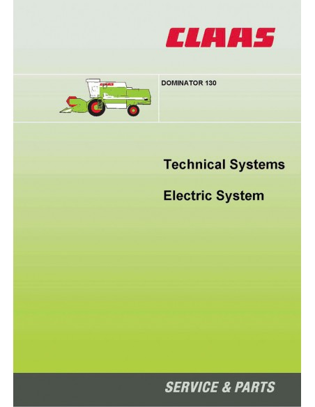 Claas Dominator 130 combine harvester technical systems manual - Claas manuals