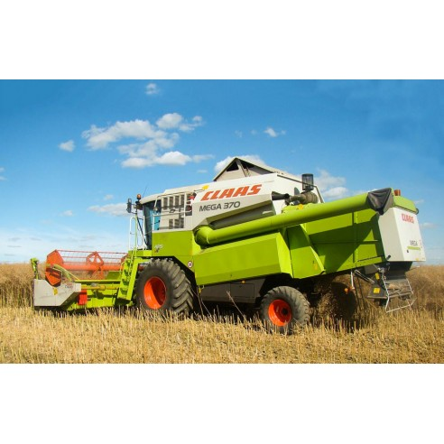 Claas Mega 370 - 350 combine harvester technical systems manual - Claas manuals
