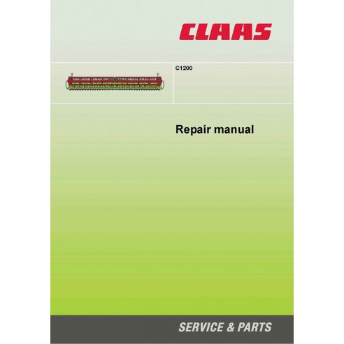 Repair manual for Claas C1200 header, PDF-Claas