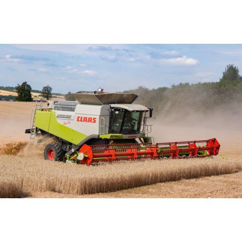 Manual de reparación de la cosechadora claas Lexion 600-560 TerraTrac - Claas manuales