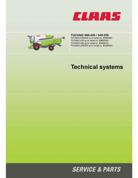 Claas Tucano 450-430 / 340-320 combine harvester technical systems manual - Claas manuals