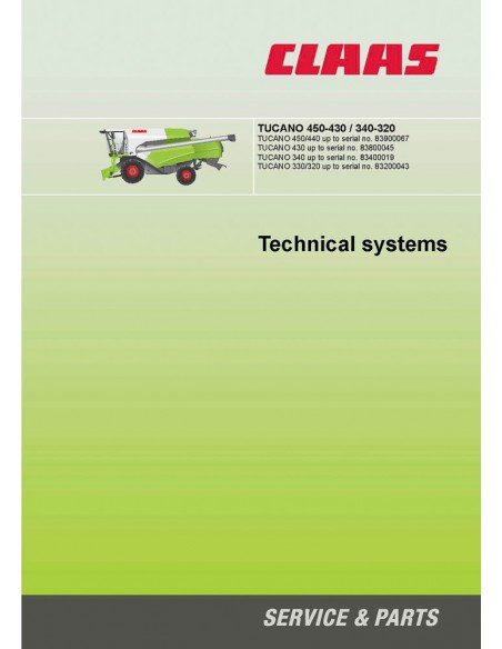 Technical systems manual for Claas Tucano 450-430 / 340-320 combine harvester, PDF-Claas