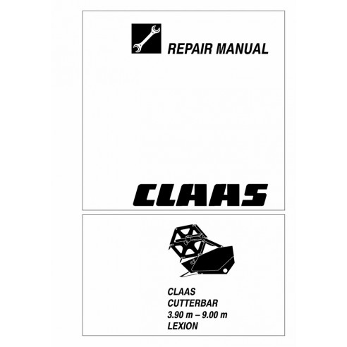 Repair manual for Claas 3.90 m - 9.00 m Lexion cutterbar, PDF-Claas