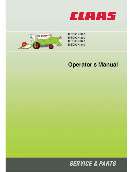 Claas Medion 310 - 340 combine harvester operator's manual - Claas manuals