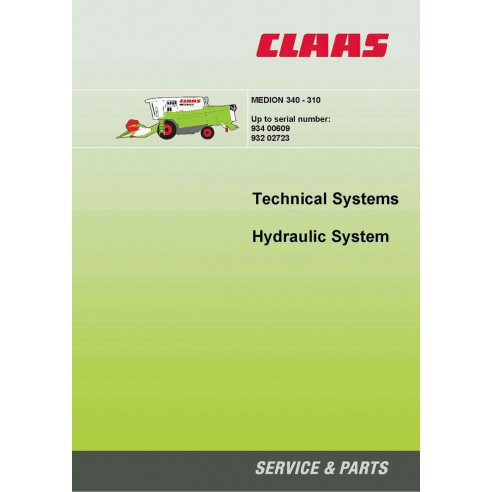 Manual de sistemas técnicos da colheitadeira Claas Medion 340 - 310 - Claas manuais