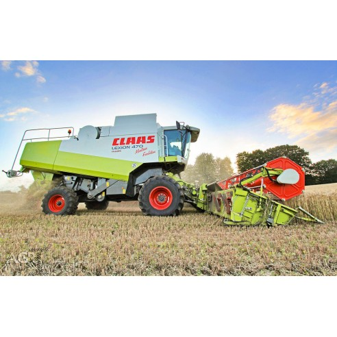 Technical systems manual for Claas Lexion 470 - 420 Montana combine harvester, PDF-Claas