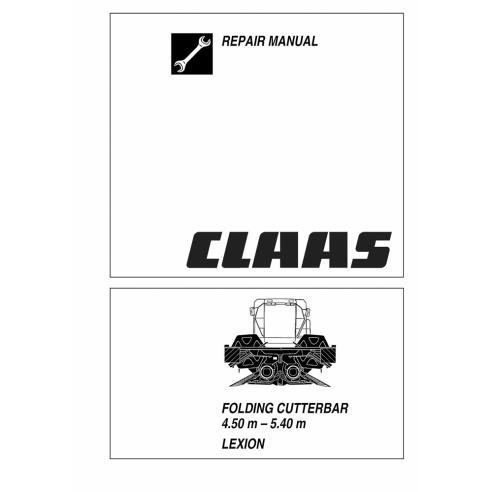 Manual de reparación de la barra de corte plegable Claas Lexion - Claas manuales