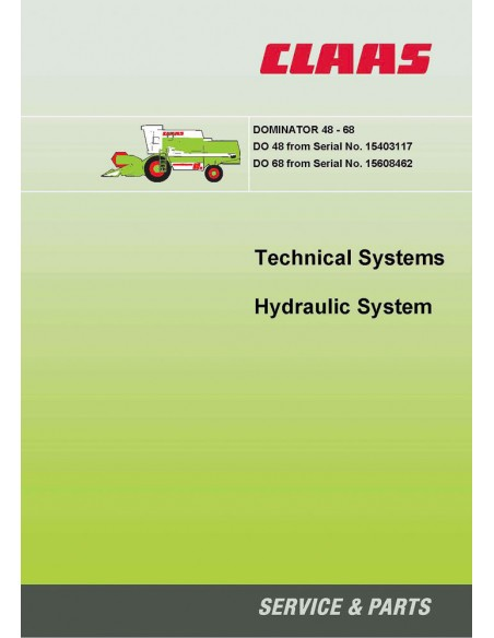 Technical systems manual for Claas Dominator 48-68 combine harvester, PDF-Claas