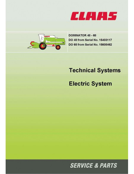 Claas Dominator 48-68 combine harvester technical systems manual - Claas manuals