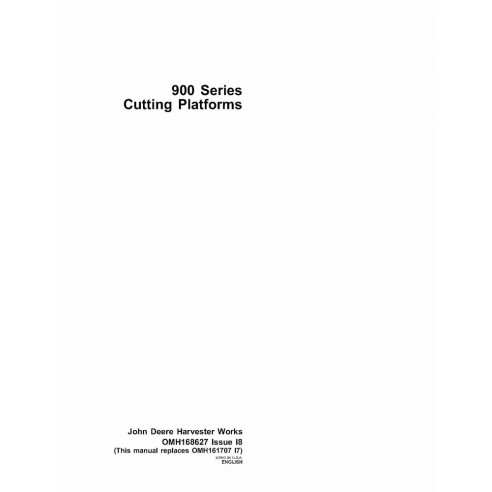 John Deere 900 series cutting platform operator's manual - John Deere manuals