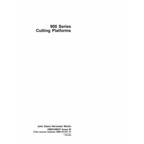 Manual do operador da plataforma de corte John Deere série 900 - John Deere manuais
