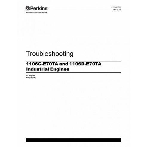 Perkins 1106C-E70TA and 1106D-E70TA engine troubleshooting manual - Perkins manuals