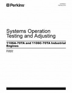 Perkins 1106A-70TA and 1106C-70TA engine technical systems manual - Perkins manuals