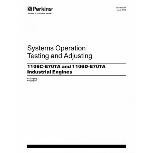 Technical systems manual for Perkins 1106C-E70TA and 1106D-E70TA engine, PDF-Perkins