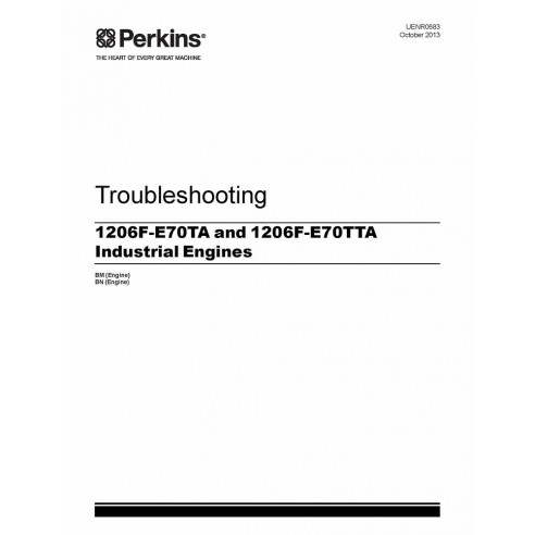 troubleshooting for Perkins 1206F-E70TA and 1206F-E70TTA engine, PDF-Perkins