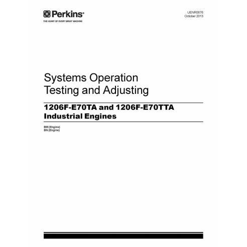 Manuel des systèmes techniques des moteurs Perkins 1206F-E70TA et 1206F-E70TTA - Perkins manuels