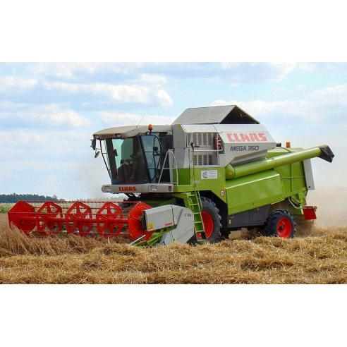 Operator's manual for Claas Mega 370 - 350 combine harvester, PDF-Claas