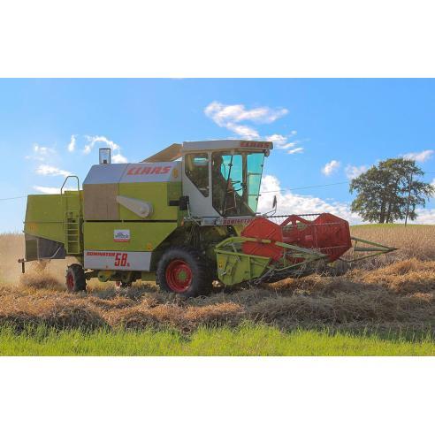 Claas Dominator 38S, 48S, 58S combine harvester operator's manual - Claas manuals