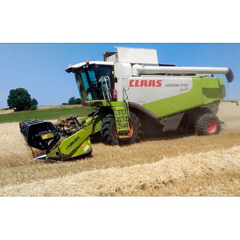 Manual del operador de la cosechadora claas Lexion 570 Montana - Claas manuales