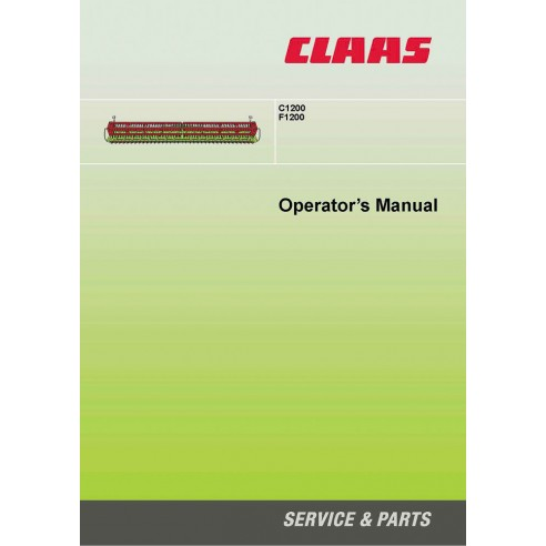 Operator's manual for Claas C1200, F1200 header, PDF-Claas