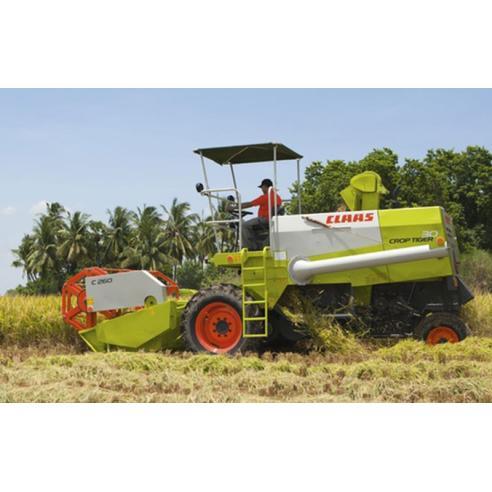 Manual del operador de la cosechadora Claas Crop Tiger 30 - Claas manuales