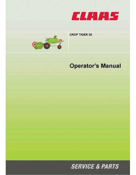 Claas Crop Tiger 30 combine harvester operator's manual - Claas manuals