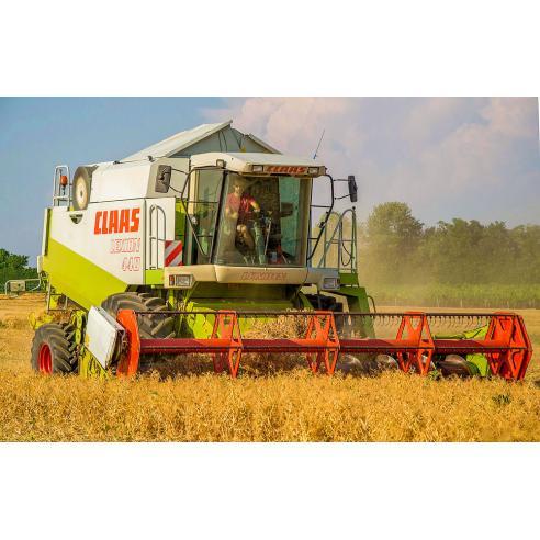 Manual del operador de cosechadoras combinadas Claas Lexion 410, 420, 430, 440, 450, 460 IMO - Claas manuales