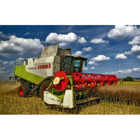 Operator's manual for Claas Lexion 580, 570, 570 C combine harvester, PDF-Claas