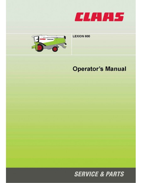 Operator's manual for Claas Lexion 600 combine harvester, PDF-Claas