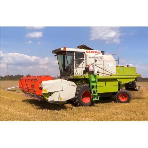 Manual del operador de la cosechadora claas Dominator 150, 140, 130 - Claas manuales