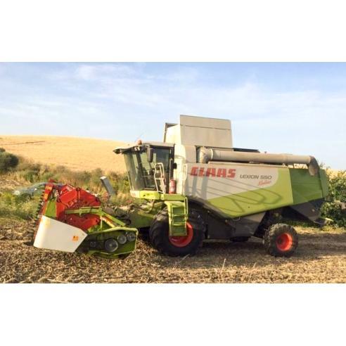 Manual del operador de la cosechadora claas Lexion 560, 550, 530, 520 Montana - Claas manuales