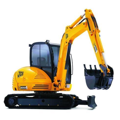 Jcb 8052, 8060 manual de servicio de la miniexcavadora - JCB manuales