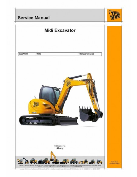 Service manual for JCB 8080 mini excavator, PDF-JCB
