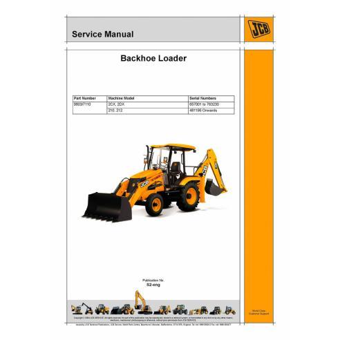 Service Manual For JCB 2CX 2DX 210 212 Backhoe Loader PDF