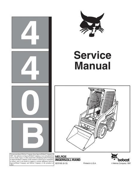 Bobcat 440B loader service manual - BobCat manuals