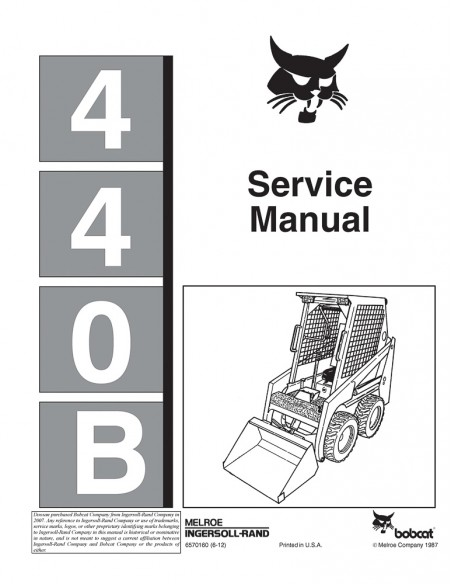 Service manual for Bobcat 440B loader, PDF-BobCat