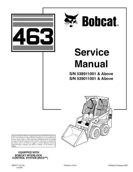 Bobcat 463 loader service manual - BobCat manuals