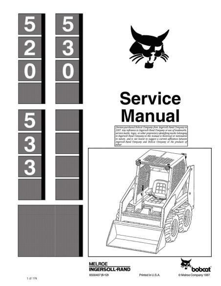 Service manual for Bobcat 520, 530, 533 loader, PDF-BobCat