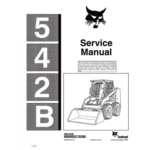 Service manual for Bobcat 542B loader, PDF-BobCat