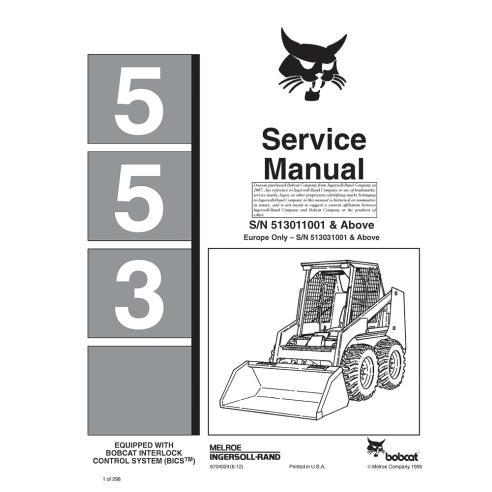 Manuel d'entretien du chargeur Bobcat 553 - BobCat manuels