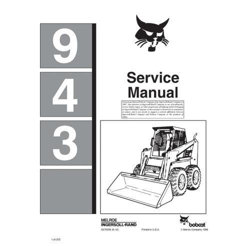Bobcat 943 loader service manual - BobCat manuals