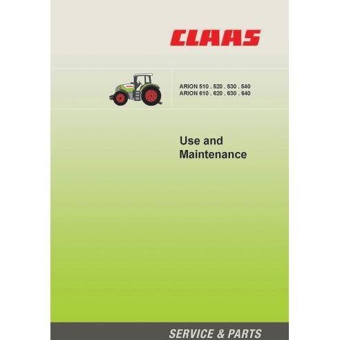 Manual de mantenimiento del tractor Claas Arion 640 - 610, 540 - 510 - Claas manuales