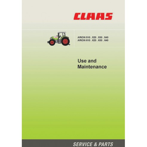 Manuel d'entretien du tracteur Claas Arion 640-610, 540-510 - Claas manuels
