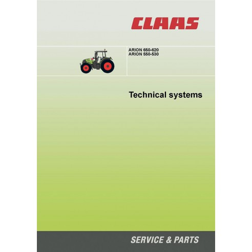 Manual de sistemas técnicos del tractor Claas Arion 650-620, 550-530 - Claas manuales